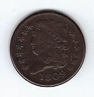 1809-1845 Classic Head Half Cent G/VG