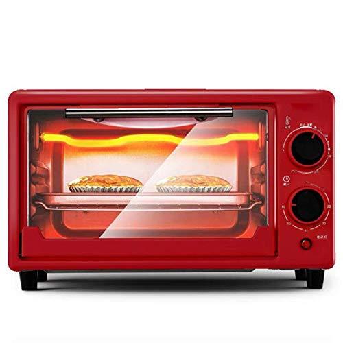 NLRHH Multifunción Mini Horno 11l Incorporado Cobre Estufa eléctrica incorporada en los aparatos domésticos de Cocina Pan Tostado (Color: Rojo) Peng (Color : Red)