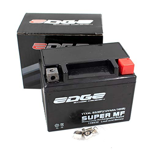 Roller AGM Batterie 12V 4Ah wartungsfrei als verstärkte Batterie (YTX4L-BS MF) passend für viele Roller