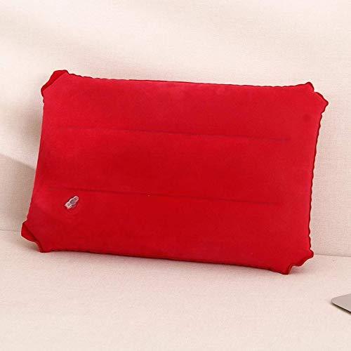 JONJUMP Almohada inflable del viaje PVC que reúne la siesta almohada cuadrada cojines al aire libre del descanso del senderismo