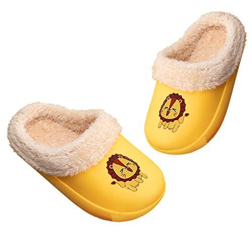 Pantofole Inverno Ragazzi Ragazze Scarpe di Cotone Bambini Peluche Antiscivolo Home Caldo Ciabatte Slipper da Ultraleggeri e Antiscivolo