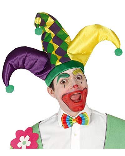 Horror-Shop Bunte Joker-Mütze für Karneval & Motto Party