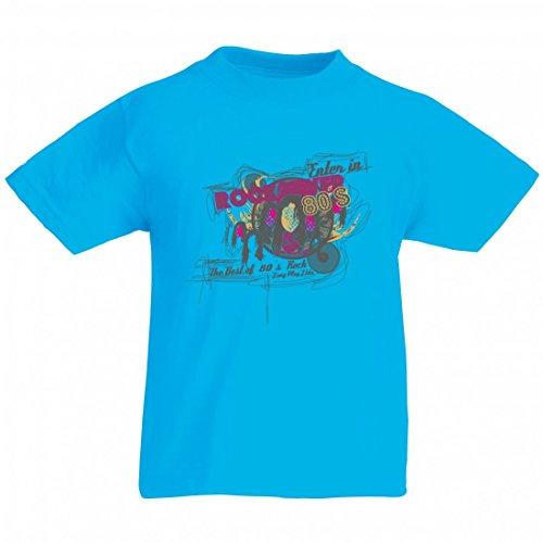 Camiseta de manga corta con diseño de pato en Rock Fever 80s TheBest of 80 ́s Rock Long Play Ltda. Music Rock n Roll Rocker Bike Auto Travel Palmen 80er 90 para hombre mujer niños 104-5XL azul Mujer Gr.: X-Small