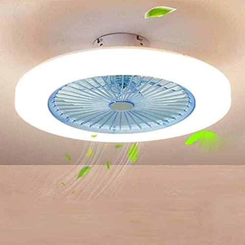 Ventiladores De Techo Con Luces, Ventilador De 3 Velocidades Ventilador De Techo Led Regulable Con Control Remoto De 36W Comedor-Azul