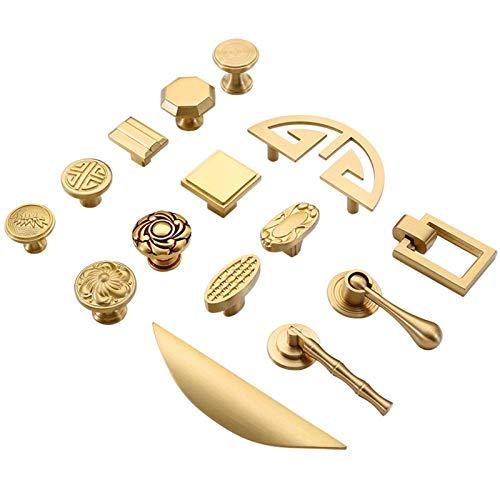 Pomo de cobre puro para armarios de cocina, estilo vintage, estilo europeo, de latón, para muebles, color 1099