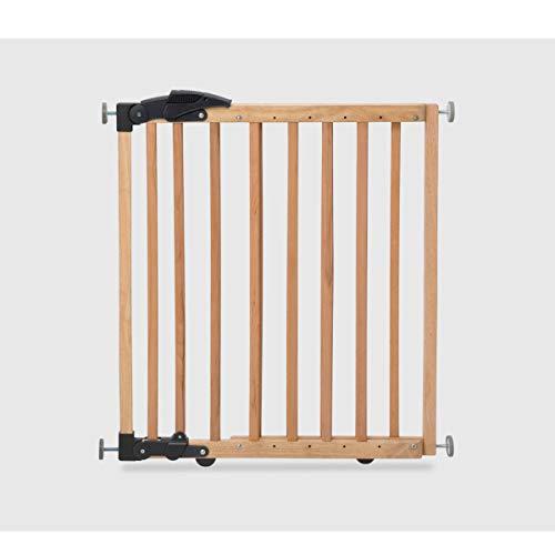 Geuther Türschutzgitter zum Einklemmen und Schwenken 68-102 cmm, Höhe 75 cm Natur