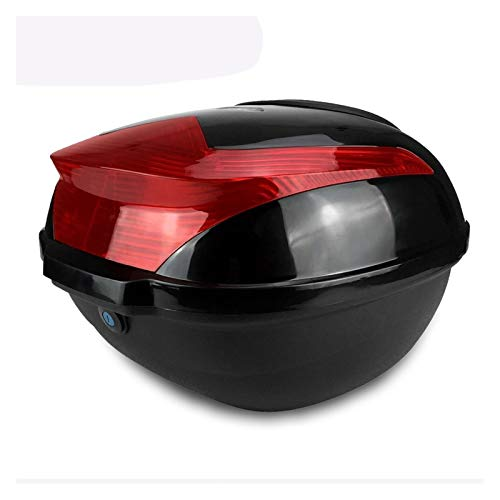GIAOGIAO Large Capacity Tail Box Electric Scooter Trunk Motorcycle Top Hard Case Helmet Storage Case Luggage Case With Reflective Lamp (Color : Balck type2)