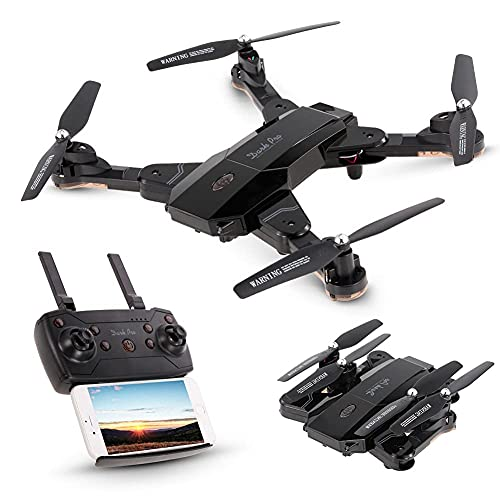 ZHAOJ Mini Drone with 720P HD FPV Camera Remote Control Toys Gifts with Altitude Hold, Headless Mode, One Key Start Speed Adjustment, 3D Flips, Gravity Control, for Adults and Beginners