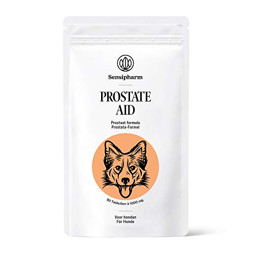 Sensipharm Prostate Aid Hond - Prostaat Voedingssupplement - Bij Prostaatontsteking - 90 Tabletten à 1000 mg