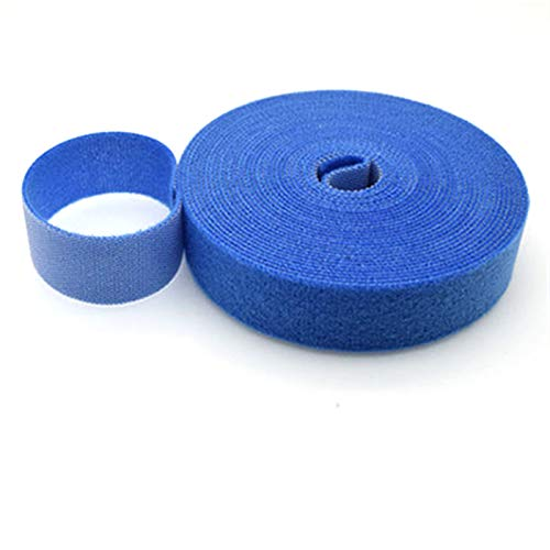 5M DIY reusable nylon cable tie management winder cable tie self-adhesive tape color cable tie tie wraps small cable ties zip ties black (Color : 2CMx5M blue)