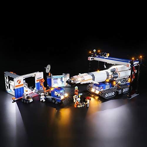 BRIKSMAX Kit de Iluminación Led para Lego City Space Ensamblaje y Transporte del Cohete,Compatible con Ladrillos de...
