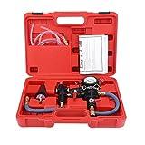 Haowen Kit de vacío de refrigerante automático Sistema de refrigeración Juego de radiador Herramienta de Recarga y Purga Rojo