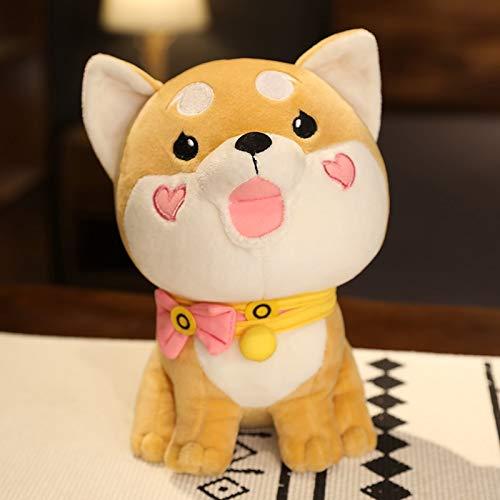 mangege Lindo Perro Shiba inu de Peluche de Juguete Animales de Peluche de Dibujos Animados de Japón Anime Perro muñeca Suave con Bufanda Juguetes para niños Regalo de cumpleaños 25cm A
