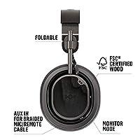 House Of Marley Exodus ANC, Cuffie Over Ear Wireless con Riduzione del Rumore Regolabile, Auricolare Pieghevoli senza Fili con Bluetooth 5.0, fino a 28 Ore di Autonomia, Microfono Incorporato, Nero #2
