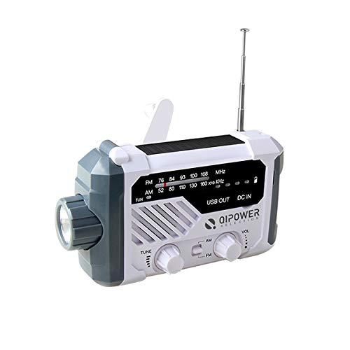 多機能防災ラジオ 手回し スマホ充電 ソーラー 太陽光 バッテリー内蔵 ラジオ AM FM 懐中電灯 ライト LED デスクライト 乾電池 SOS 緊急時