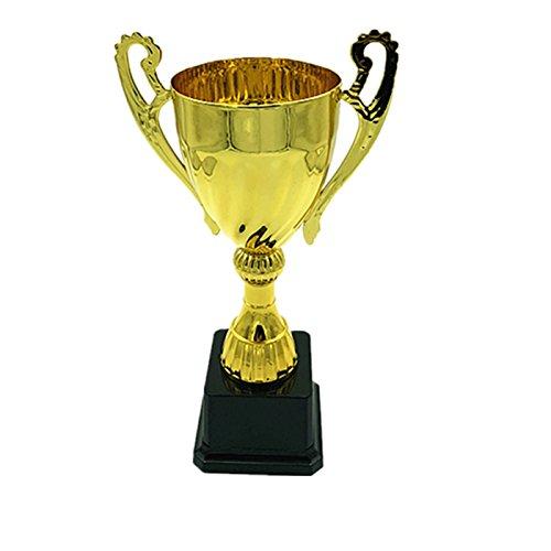 Trophée de Sport pour Prix, Coupe à Offrir Métal doré 9,5 x 24,5 cm
