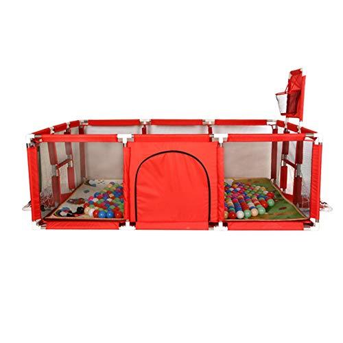 Riverry Portátil Baby Ball Pit Carpa Corralito De Corral con Aro De Baloncesto Malla Transpirable para Interiores Al Aire Libre Niños Pequeños Niños No Incluye Pelotas excellently
