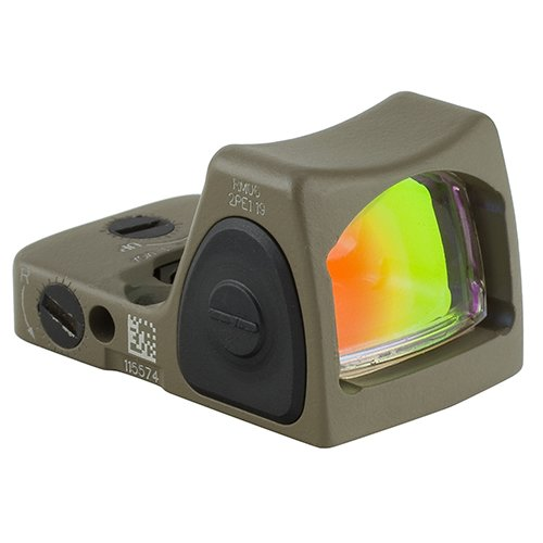 Trijicon RM06-C-700696 RMR Type 2 3.25 MOA Adjustable LED Red Dot Sight with No Mount, Cerakote Flat Dark Earth