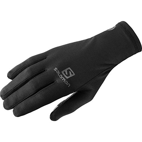 Salomon Nso Pro Glove Run Guantes con tecnología AdvancedSkin Warm y vellón Zargun para trail running