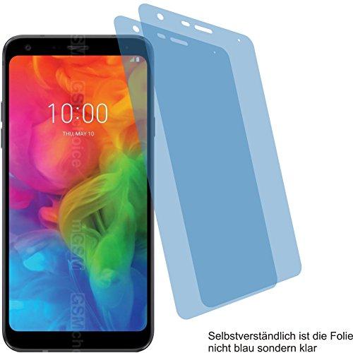 4ProTec I 2X Crystal Clear klar Schutzfolie für LG Q7+ Plus Bildschirmschutzfolie Displayschutzfolie Schutzhülle Bildschirmschutz Bildschirmfolie Folie