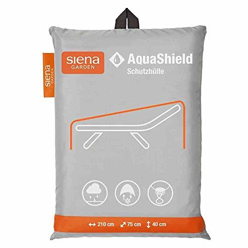 Siena Garden AquaShield - Telo protettivo per sdraio, con sistema Active Air, 210 x 75 x 40 cm, colore: grigio argento