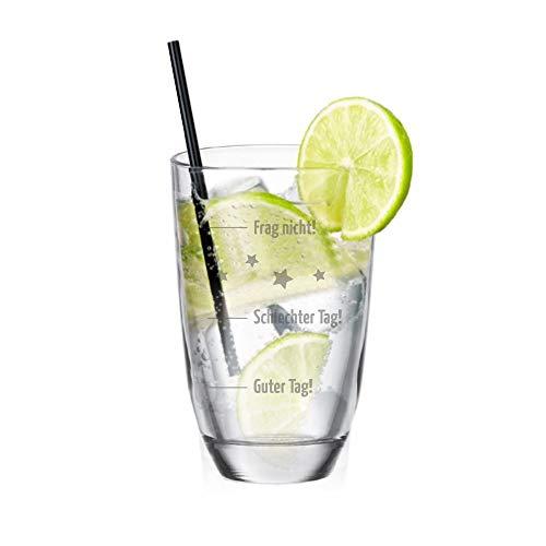 4youDesign Gin - Glas • Guter Tag! - Schlechter Tag! - Frag Nicht! • Geschenkidee für Mann und Frau Geburtstagsgeschenk für Gin-Liebhaber