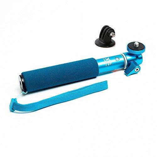 Xsories USHM3B U-Shot - Palo Selfie telescópica Ajustable Monopod Extensible con Brazo telescópico, Azul