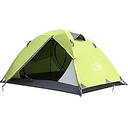 Hewolf Tente à Dos Tente légère pour 2 Personnes Tente de Camping à dôme Double Couche