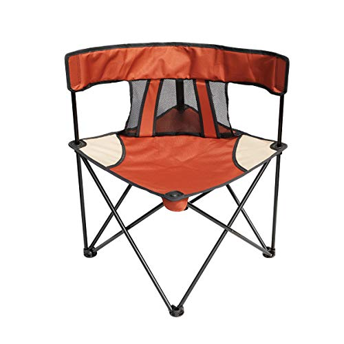 HG Portable Folding Camping Chairs, Outdoor Canopy Chair Quick Easy Set Up, Ideal for Lawn Beach, Support Up to 225 Lbs.