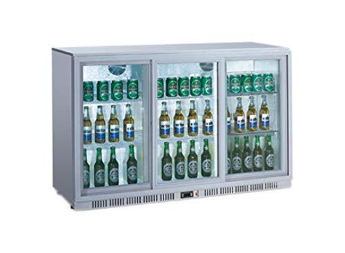 Flaschenkühlschrank 330 Liter silber Getränkekühlschrank Barkühlschrank Gastronomie Gewerbe