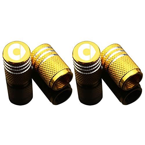 LSQJNDM para VáLvula De Smart NeumáTico del Coche De Cap Core Cubierta ModificacióN 4 Piezas Amarillo