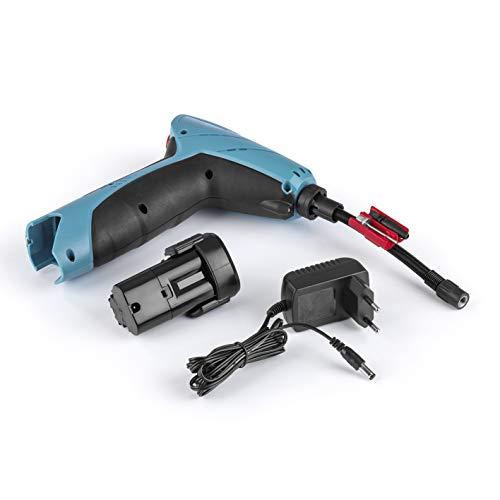 EASYmaxx Akku-Handkompressor   mit LED-Beleuchtung, Digitale Luftdruckanzeige   Akkuladung ausreichend für bis zu 15 min durchgehenden Betrieb [blau/schwarz]