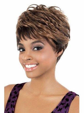 Postiches naturelles Petite perruque courte perruque courte Mode naturellement Mesdames chaud perruque Long Wave Ponytail pour les femmes