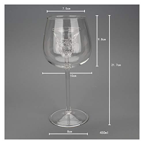 YAOQIHAI Red UVA Vino de Vino Wete Up Copa de Vino Cráneo Creativo Decantación de Copa Línea sin Plomo Cristal de Cristal Copa de Vino de Vino Herramientas (Capacity : 401 500ml, Color : Clear)