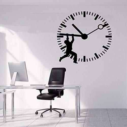 HFDHFH Oficina calcomanías de Pared Creativas Trabajo en Equipo Creativo Oficina de Negocios decoración inspiradora Aula Pegatinas de Vinilo Reloj Mural