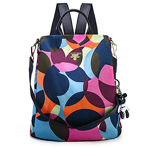 CONRUSER Womens Backpack Purse, Waterproof Oxford Shoulder Bag Small Travel Bag Anti-theft Backpack