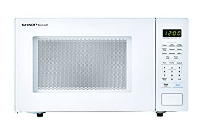 SHARP White Carousel 1.1 Cu. Ft. 1000W Countertop Microwave Oven (ISTA 6 Packaging), Cubic Foot, 1000 Watts