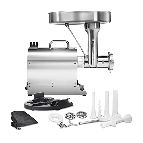 Weston Pro Series #22 Electric Meat Grinder, Commercial...