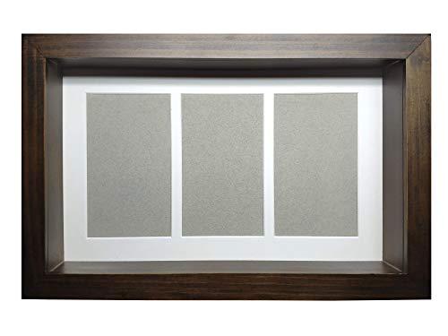 MOLDEARTEBABY UN RECUERDO INOLVIDABLE Fotorahmen, Box 3D, bilderrahmen 3 Holz mit Glas und Passepartout, bilderrahmen tief zur Platzierung von Sammlungsobjekten oder Collage (30 x 20 x 5 cm, Wengue)