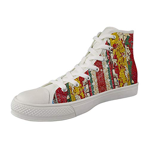 MODEGA Impression Graffiti High Top Chaussures Mens Impression Graffiti Chaussures Montantes Garçons...
