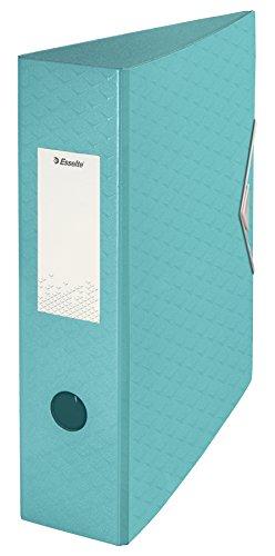 ESSELTE 626217 - Archivador de palanca polifoam COLOUR'ICE DIN A4. Lomo 75 mm color azul