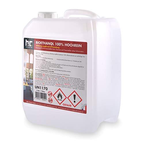 Höfer Chemie 5 L Bioethanol 99,9% Premium für Ethanol Kamin, Ethanol Feuerstelle, Tischfeuer & Kamin