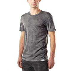 [ ULTRALIGHT CREW NECK TEE SHIRT ] Flatlock seams, tagless interior, low bulk athletic fit for layering versatility. Full merino construction for natural stretch, odor resistance, moisture wicking, itch free, 4-season comfort. [ MODERN FIT FOR DAILY ...