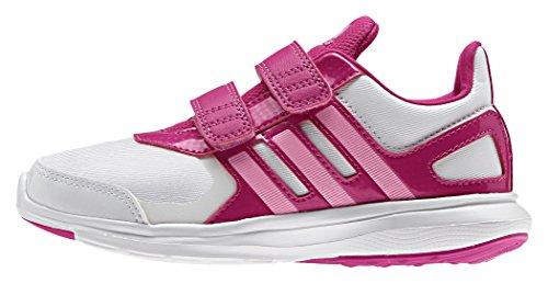 Adidas Hyperfast 2.0 CF K - Zapatillas de running, Unisex infantil, Blanco / Rosa, 35 1/2