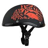 NS Casco Motocicleta Abierto Medio Protección Dot Gorro Cal