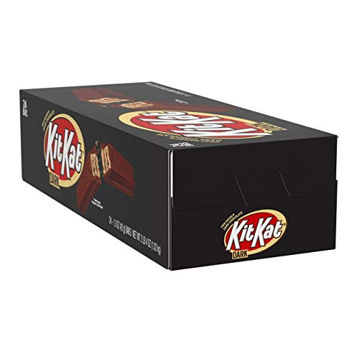 KIT KAT Halloween Candy, Dark Chocolates, 1.5 Ounce, Full Size Bars, 24 Count