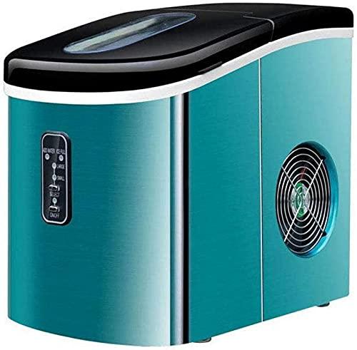isbitmaskin Bärbar ismaskinmaskin för bänkskiva, rostfri stålbänksmaskin, 16 kg is per 24 timmar, snabb istillverkning