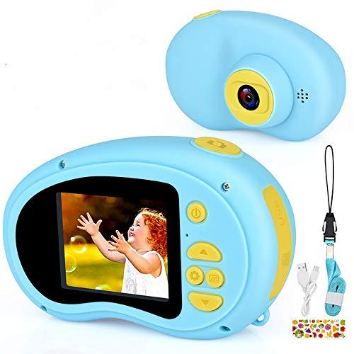 Micoke Macchina Fotografica per Bambini 1080P Portatile Videocamera Mini Fotocamera giocattolo Regalo di Compleanno Natale per Ragazzo Blu