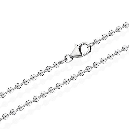 NKlaus collanain argento Sterling 925 per ciondolo, collana in argento 3,00mm di larghezza e argento, colore: argento, cod. 2503
