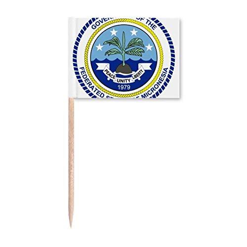 Mikronesien-Emblem Zahnstocher Flaggen Marker Topper Party Dekoration